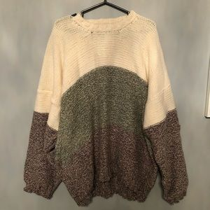 Vintage Hand Knit Oversized Sweater